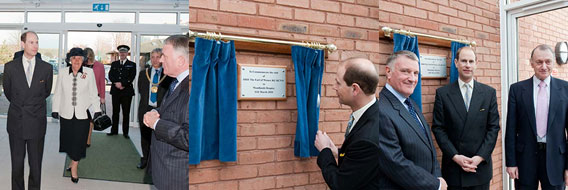 11th March 2010 HRH Prince Edward, the Earl of Wessex, visited the Inpatient Unit at Woodlands Hospice