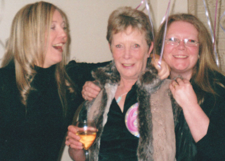 Toni and her sister Joanne, with their Mum Margaret Sweeney