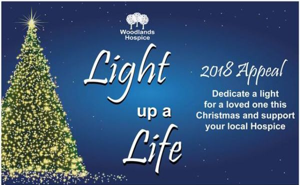 Light up a Life 2018 at Woodlands Hospice