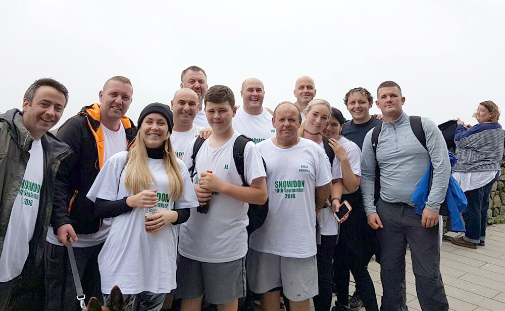 Billy Hughes climbs Snowdon to support Woodlands Hospice