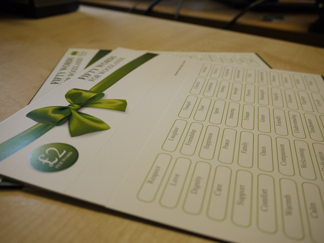 50 Words for Woodlands Fundraising Cards