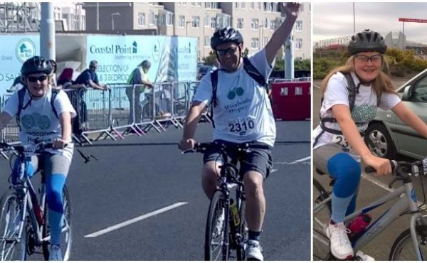 Dad and Daughter Cycle 60 Miles for Woodlands!
