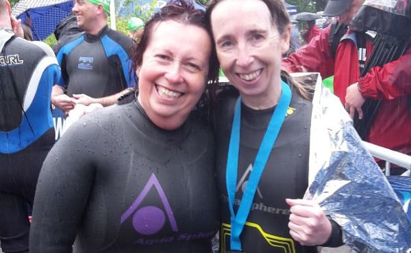 Sister-in-Laws raise over £2000 for Woodlands Hospice in Great North Swim