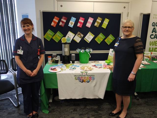 Kate Dreyer - Head of Wellbeing & Support Centre and Dianne Brown - Woodlands Hospice Trustee & Senior Nurse at Aintree Hospital