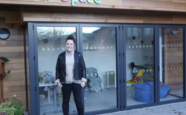Local Artist supports Young People's Pavilion Project at Woodlands Hospice
