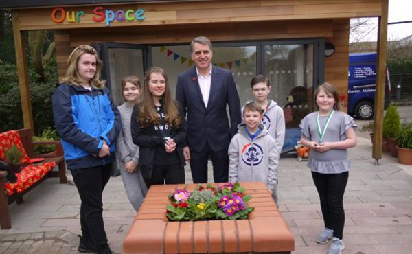 Steve Rotheram Plants Time Capsule at Woodlands Hospice