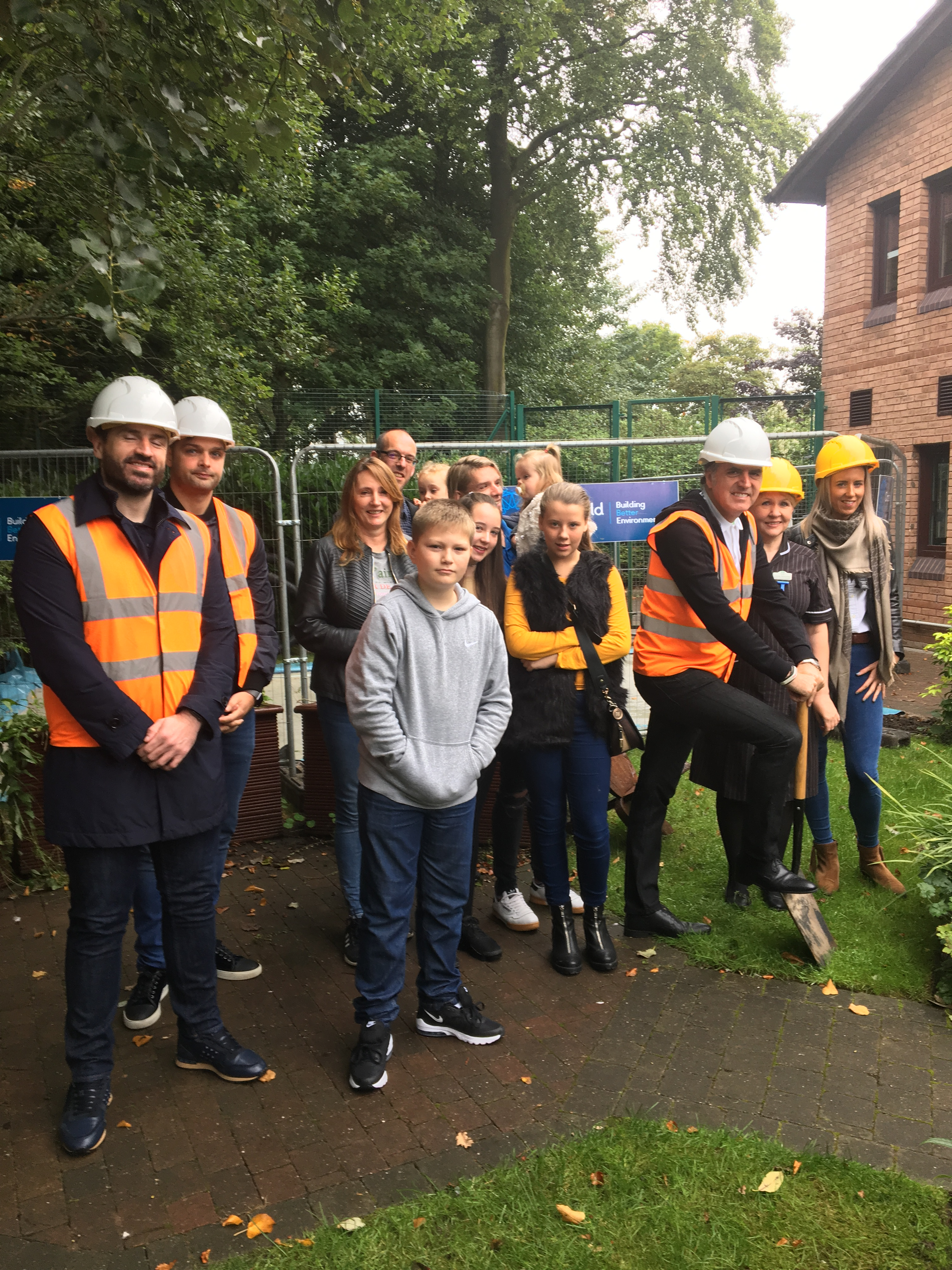 Steve Rotheram with Crossfield Construction at Woodlands Hospice