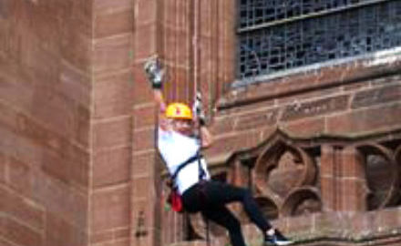 Abseil down Liverpool Anglican Cathedral